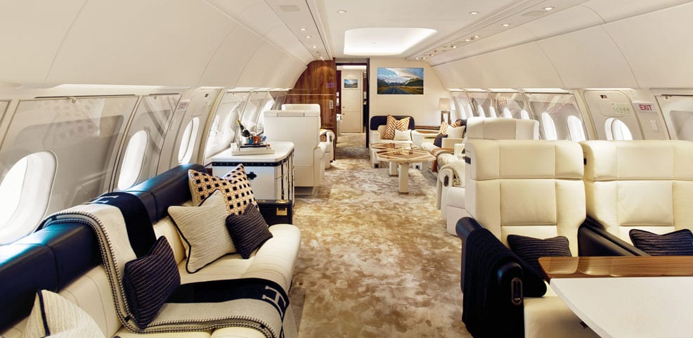 The Most Luxurious Private Jet Interiors - Waldorf Astoria