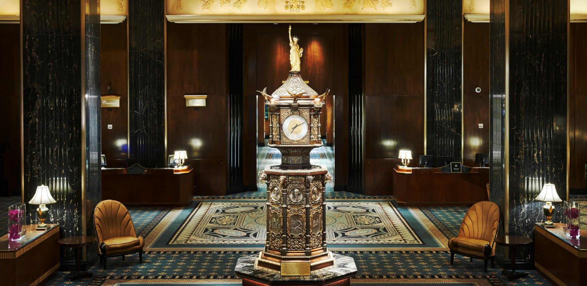 Waldorf Astoria New York lobby clock