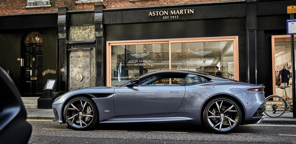 Aston Martin storefront at Dover Street
